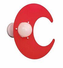 Applique Plafoniera Luna Rosso in Metallo per Camerette 100% Made in Italy