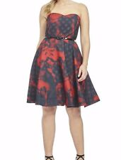 City Chic Strapless Cocktail Forbidden Rose Dress Size Small - No Belt Included