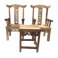 3x 1/12 Miniature Tea Table Armchairs Vintage Furniture Set Dollhouse Accs