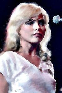 """Debra Harry """"Blondie"""" painting in acrylic. Original work by Brian Tones"""