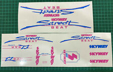 old school bmx decals stickers 1986 skyway street styler set whte lavender clear