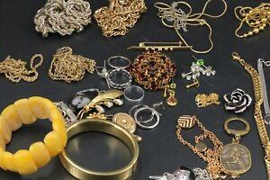 Modeschmuck Konvolut Vintage Schmuck vergoldet Amerikaner Kette Armband Ring uvm