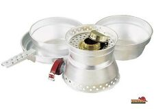 Outback DELUXE Aluminium Alcohol  Spirit Stove Camp Cook Set