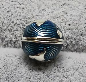 Pandora 799429C01 Blue Globe Clip Charm S925 ALE
