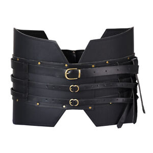 Medieval Wide Belt Knight Armors Viking Pirate Costume for Adult Cosplay LARP