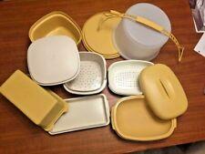 Lot Vintage TUPPERWARE Steamer Bread Cake Colander HARVEST GOLD 1273 171 684 888