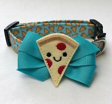 Pizza Is Life Dog Collar Size XS-L by Doogie Couture