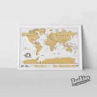 Scratch Map ® Original Scratch off World Map Poster by INVENTORS OF SCRATCH MAPS
