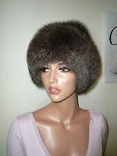 Real Platinum Silver Fox Fur Hat for Jacket Coat Russian Cossack Mink Volpe M -L