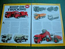 Construction Trucks Vehicles article Conrad 5 sides Volvo Mercedes Toys Models