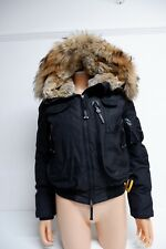 Parajumpers Black Puffer Bomber Jacket Down S Small Uk 6 -8 Gobi MASTERPIECE