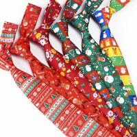 man Snowflake Print Casual Christmas Tie Men Neck Ties Necktie