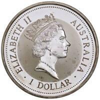 s1343) Australia Kookaburra 1 oz 5 Dollars 1995 silver argento oncia