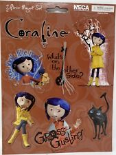 """NECA Coraline 6 Piece Magnet Set """"Gross Gusling"""" NEW! Limited. Free Shipping!"""