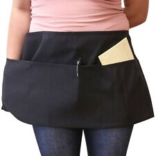 12 Pack of Waist Aprons - 3 Pocket Restaurant Quality Utility Polyester Apron