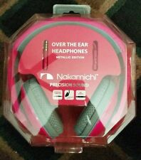 New Nakamichi Over the Ear Headphones Metallic Edition NK780M Pink