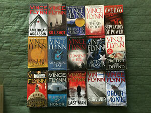 Vince Flynn / Kyle Mills 15 book Mitch Rapp series 1-15  Paperback LOT COMPLETE!