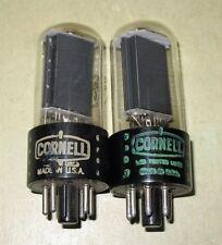 2 Cornell (RCA)  25L6GT  Radio Tubes