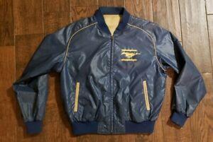 Vintage Ford 80s mustang CAFE RACER Stripe jacket coat garage