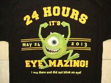 "Disney Monstrous Summer All nighter 2013 ""Eye-Mazing"" Monsters Inc T Shirt L"