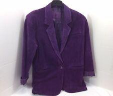 Ladies Purple Rain Suede Jacket Leather Coat Size Medium