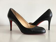 CHRISTIAN LOUBOUTIN BLACK PUMPS, SIZE 40