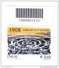 italia 2008 terremoto di messina codice a barre nuovi ** FRA.603