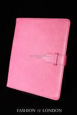 IPad 2 3 & 4 (Rosa Morbida Pelle D'Agnello) Genuine Vera Pelle Cover Custodia Supporto Folio