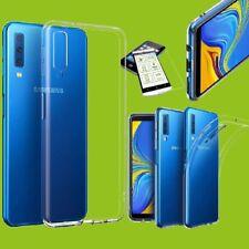 Silikon Transparent + H9 Hartglas für Samsung Galaxy A9 A920F 2018 Tasche Hülle