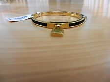 Michael Kors Authentic Gold-Tone Padlock Hinge Bangle Bracelet MSRP $125