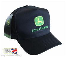 Nuevo Con Licencia John Deere Negro Algodón la gorra de béisbol alta frente plano Sombrero