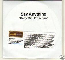 (B346) Say Anything, Baby Girl I'm A Blur - DJ CD