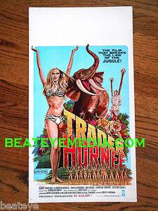 TRADER HORNEE-WINDOW CARD-MOVIE POSTER-EXPLOTATION-CULT-TRADER HORN-PLAYBOY-SEX