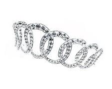 Clear Austrian Rhinestones Queen Elizabeth II Royal Female Silver Crown Tiara