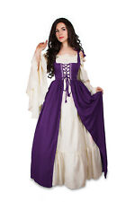 Renaissance Medieval Irish Costume Plum Over Dress ONLY Fitted Bodice L/XL