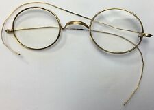 Antique Old 19th Century Gold Over Sterling Eyeglasses Eyewear Optical Marked RX