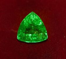 12.88x13.21mm (9.00cts) TRILLIANT-CUT CERTIFIED NATURAL (GGL) COLOMBIAN EMERALD