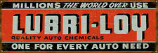Large Format Lubri-Loy Gas And Motor Oil Sign