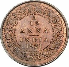 1921 King GEORGE V of United Kingdom as EMPEROR of British INDIA Coin i45288