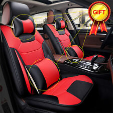 Microfiber Leather 5-Seats Car Seat Cover Front +Rear Cushion All Season Size S