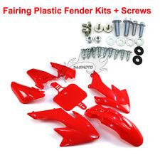 Red Plastic Fairing Fender Kits Screws For Honda CRF50 XR50 Dirt Pit Motor Bike