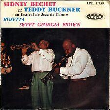 "SIDNEY BECHET / TEDDY BUCKNER ""FESTIVAL DE CANNES"" 60'S JAZZ EP VOGUE 7759"