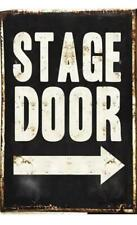 Metal Plate Sign Stage Door Theater Play Cave Home Gate Decor Warn Bar Wall Tin