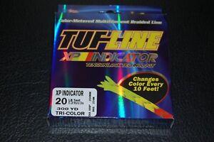 TUF-Line XP Indicator 20 lb Test 300 yards Red Yellow Green Braid Fishing Line