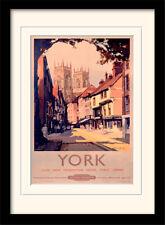 York dal British Rail incorniciato & STAMPA MONTATA