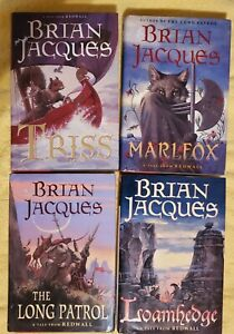 4 Brian Jacques Redwall HC 1st Edition (Impression) Books