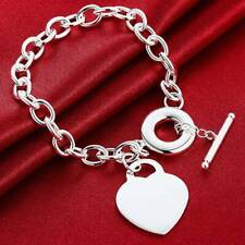 Women Lady Bracelet 925 Sterling Silver Jewellery Classic Solid Bangle Gift UK