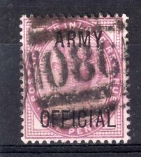GB = POSTMARK - QV era `O86 / FORTUNESWELL / PORTLAND` on 1d ARMY OFFICIAL.