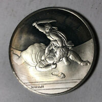 David and Goliath, The Genius of Michelangelo 1.26oz Sterling Silver Medal