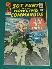 MARVEL COMICS GROUP SGT. FURY AND HIS HOWLING COMMANDOS #25 12/1965 - SWEET COPY